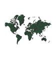 binary code data on world map vector image