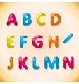 candy alphabet a-n vector image