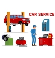 Car services - maintenance repair and diagnostics vector image