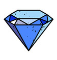 cartoon image of diamond icon diamond symbol vector image