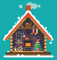 House of Santa Claus vector image