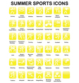 icons with summer sports vector image