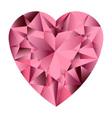 Pink gemstone heart vector image