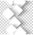 white squares vector image