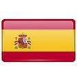 Flags Spain in the form of a magnet on vector image