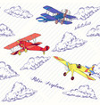 seaml colors airplanes-02 vector image