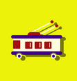 flat icon design collection trolleybus silhouette vector image vector image