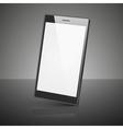 Black smartphone isolated on white background vector image