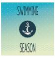 Beginning swimming season vector image