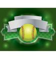 softball banner vector image