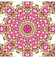 Pink coloured mandala like design seamless vector image