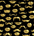 Glitter seamless fashion pattern in gold vector image