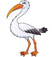 stork cartoon vector image
