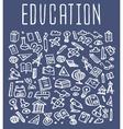 Hand drawn School education seamless logo vector image