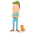 stand by a pet side vector image vector image