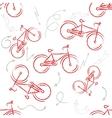 Red sport bike Ornament Patterned Design Element vector image