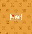 Travel concept seamless orange background vector image