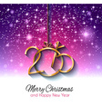 Christmas Greeting Card for happy Holidays cards vector image