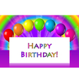 Happy birthday frame with balloons vector image