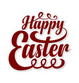 happy easter calligraphic text vector image