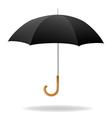 Realistic Black Umbrella vector image
