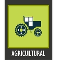 simple icon agriculture tractor eps 10 vector image