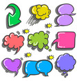 speech bubble various vector image