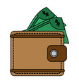 wallet icon image vector image
