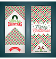 Merry Christmas greeting card with color texture vector image vector image
