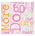 It s a Dog s Life text background wordcloud vector image