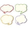 four different cloud speech templates vector image vector image