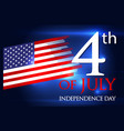 usa 4th of july4 vector image vector image