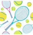 tennis pattern vector image