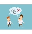 Thinking logistics and brainstorming flat vector image vector image