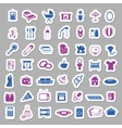 family and home stickers vector image