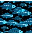 X-ray fish seamless vector image
