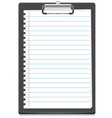 clipboard icon with paper vector image vector image