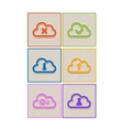 Abstract flat paper cloud icons vector image
