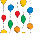 colorful balloons on a white background Seamless vector image