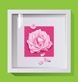 decorative frame for design on the wall paintings vector image