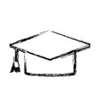 graduation cap accessory fashion trendy icon vector image
