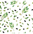 Greek Food Pattern vector image