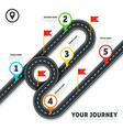 Journey road map business cartography vector image