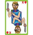 king diamonds vector image