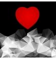 red heart on an abstract background vector image