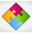 Puzzle Square vector image vector image