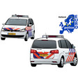 holland police car vector image
