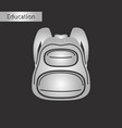 black and white style icon backpack vector image