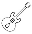 electric guitar icon outline style vector image