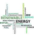 word cloud renewable energy vector image